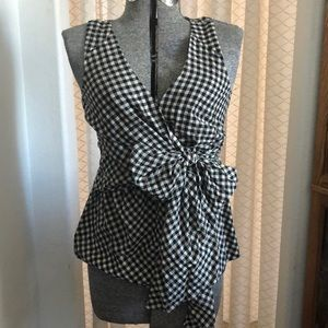 Anthropologie Odille Gingham Wrap Top 6